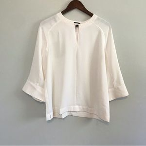 Ann Taylor Tops - NWT! Ann Taylor Solid Ivory Blouse